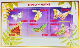 Ghana 2002**Mi.3485-90. Ghana Moths , MNH [4;2] - Other