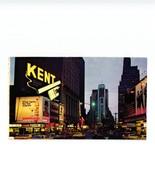 NEW YORK CITY ... TIMES SQUARE AT NIGHT. ... PUB. CIGARETTES KENT .. - Time Square
