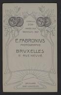 CDV * HOMME * PHOTO E. FABRONIUS * BRUXELLES * MEDAILLE D'OR ANVERS 1894 ET BRUXELLES 1897 * 2 SCANS - Personnes Anonymes