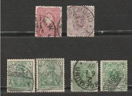 Lot 6 Timbres - Allemagne - Deutsches Reich - Reichspost Kaiserreich - 1875 Mi 32 Et 31, 1880 Mi 31, 1889 Mi 46 Et 1900 - Gebraucht