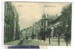 CPA-1907-ALLEMAGNE-DÜREN-HOHENZOLLERNSTRASSE-TIMBRE ET TAMPONS- - Dueren
