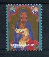 VIRGEN CON NIÑO, OBRAS DE ELENA STORNI, NAVIDAD. AÑO 2005 ARGENTINA GJ 3475 MNH ARGENTINE -LILHU - Noël