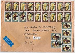 Ce0051 ZAMBIA 1994,  Multiple SG 728 & 729 Sunbirds On Ndola Cover To UK - Zambia (1965-...)
