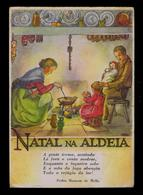 Postal Stationery 1953 Portugal Christmas Noel NATAL NA ALDEIA (some Damage) Phoesy Pedro Homem De Mello Sp5690 - Christmas