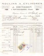 20-0640   1934  MOULINS A CYLINDRES J.HENRION A RUPT AUX NONAINS MEUSE - M.PALEE  BPULANGER A CHANCENAY - France