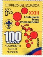 Lote EC97, Ecuador, 2007, Sello, Stamp, 100 Años Del Movimiento Scout - Ecuador