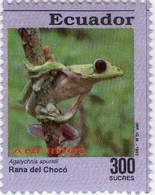 Lote EC99, Ecuador, 1994, Sello, Stamp, 6 V. Rana, Frog - Ecuador
