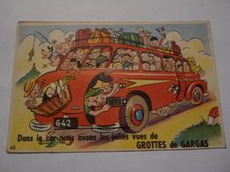 Carte Ancienne à Système Grottes De Gargas Hautes Pyrénées Soulever Capot Pour Systéme - 1900-1949
