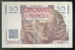 Billet 50 Francs France Le Verrier 12-6-1947 SUP - 1871-1952 Circulated During XXth