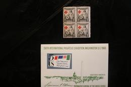 United States 1931 Red Cross Bk 4 SE Minor Crease MNH Souvenir Sheet MNH Philex Washington WYSIWYG A04s - Collezioni & Lotti
