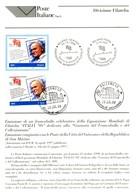 Italia 1998 BOLLETTINO ILLUSTRATIVO N.33 ITALIA '98.CON FRANCOBOLLO ANNULLO FDC. - 6. 1946-.. Repubblica