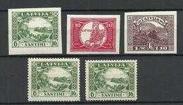 LETTLAND Latvia 1928 Lot Aus Michel 138 - 143 MNH - Lettonie