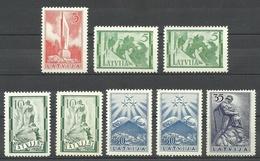 LETTLAND Latvia 1928 Lot Aus Michel 246 - 252 MNH - Lettonie