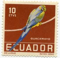 Lote EC100, Ecuador, 1958, Sello, Stamp, 4 V, Ave, Bird - Ecuador