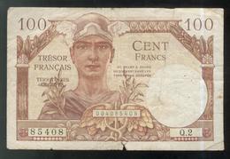 Billet 100 Francs Trésor Français 1947 - Tesoro