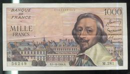 Billet 1000 Francs Richelieu 4-10-1956 Très Bon état - 1871-1952 Anciens Francs Circulés Au XXème
