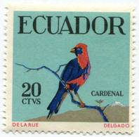 Lote EC102, Ecuador, 1958, Sello, Stamp, 4 V, Ave, Bird, De La Rue - Ecuador