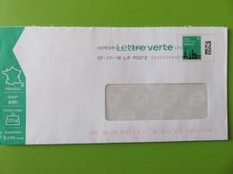Enveloppe PAP - Lettre Verte 20 G - Monuments - Agrément 119406 - 02.10.18 - PAP : Altri (1995-...)