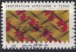 France 2019 Oblitéré Alphabétique Tissus Motifs Nature Inspiration Africaine Timbre 04 SU - France