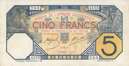 BANQUE DE L' AFRIQUE OCCIDENTALE - A O F - 5 F Du 13-1-1928 - Pick 5Be - West African States