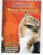 Lote EC103, Ecuador, 2006, Sello, Stamp, Parque Podocarpus, Aguila Arpia, Bird, Eagle - Ecuador