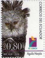 Lote EC104, Ecuador, 2006, Sello, Stamp, 2 V, Aguila Arpia, Bird, Eagle, Jaguar - Ecuador