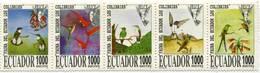 Lote EC105, Ecuador, 1996, Sello, Stamp, 5 V, Colibri, Humming Bird - Ecuador