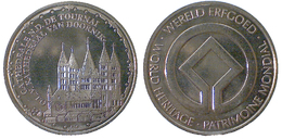 05431 GETTONE TOKEN JETON BELGIE WORLD HERITAGE PATRIMONIE CATHEDRALEN.D. DE TOURNAI - Unclassified