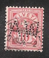 Perfin/perforé/lochung Switzerland No YT60/67/116  A.W.  Anton Waltisbuhl, Buroeinrichtungen Zurich - Gezähnt (perforiert)