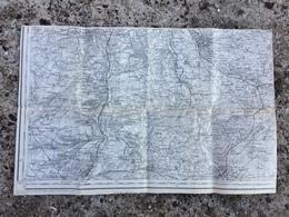 Carte Toilée Routière Géographique Saint Florent Sur Cher Charost Marmagne Quincy Reuilly Preuilly Cerbois Plou Lazenay - Wegenkaarten