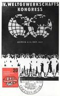 Very Rare GDR / DDR AK Leipzig, IV. World Trade Congress 1957 Postcard, Stamped, Socialist Meeting, Communism - Ricevimenti