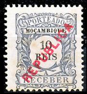 !■■■■■ds■■ Mozambique Postage Due 1916 AF#22* Local Ovrprt 10 Réis (x1167) - Mozambique
