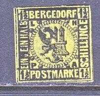 BERGEDORF  3  BELGIUM  REPRINT  *  No Gum - Bergedorf