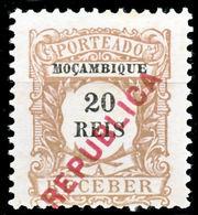 !■■■■■ds■■ Mozambique Postage Due 1916 AF#23(*) Local Ovrprt 20 (x1409) - Mozambique