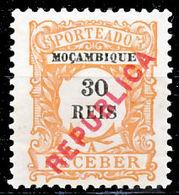 !■■■■■ds■■ Mozambique Postage Due 1916 AF#24* Local Ovrprt 30 Réis (x1168) - Mozambique