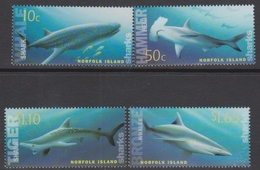 Norfolk Island ASC 851-854 2004 Sharks, Mint Never Hinged - Norfolk Island