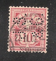 Perfin/perforé/lochung Switzerland No YT60/67/116 J.S. &C. Jacky Summerer & Cie Internat. Transporte +Jacky Maeder & Cie - Perforés