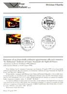 Italia 1999 BOLLETTINO ILLUSTRATIVO N.08 VIGILI DEL FUOCO.CON FRANCOBOLLO ANNULLO FDC.+2 - Non Classificati