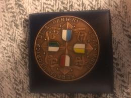 1987 Medaglia Grande Modulo In Bronzo Qsmaltata Regata Storica Di San Ranieri Pisa Amalfi Genova Venezia - Bronzes
