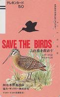 Télécarte Ancienne Japon / 110-5997 - SAVE THE BIRDS / SERIE 10/60 - OISEAU BECASSE  BIRD Japan Front Bar Phonecard 4269 - Gallinacés & Faisans