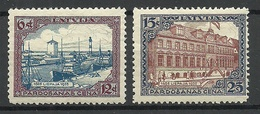 LETTLAND Latvia 1925 Libau Michel 107 - 108 * - Lettonie