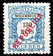 !■■■■■ds■■ Mozambique Postage Due 1916 AF#28* Local Ovrprt 130 Réis (x12395) - Mozambique