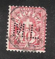 Perfin/perforé/lochung Switzerland No YT60/67/116 ML  Matthey & Leiber Neuchatel - Perforés