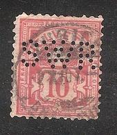 Perfin/perforé/lochung Switzerland No YT60/67/116 SWR   Mech. Seidenwerberei Ruti  Zurich + Ruti ZH - Perforés