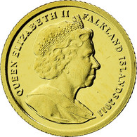 Monnaie, Falkland Islands, William & Kate, 1/64 Crown, 2011, FDC, Or - Falkland Islands