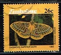 ZIMBABWE /Oblitérés/Used /1986 - Lépidoptères - Zimbabwe (1980-...)