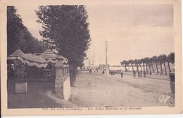 CPA - 666. BLAYE -   Les Allées Marines Et La Gironde - Blaye