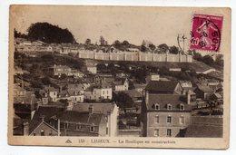 LISIEUX--1936--La Basilique En Construction....--timbre --cachet....à Saisir - Lisieux
