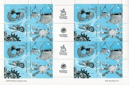 PLATERIA CRIOLLA. AÑO 2001 ARGENTINA GJ 3118 - 3121 MNH 2 SERIES COMPLETAS Y 4 ENTRECINTAS SE-TENANT RARO RARE -LILHU - Autres