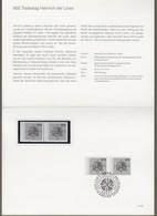 "Bund: Minister Card - Ministerkarte Typ IV, Mi-Nr. 1805 ** U. ESST: "" 800. Todestag Heinrich Der Löwe "" R           X - [7] République Fédérale"